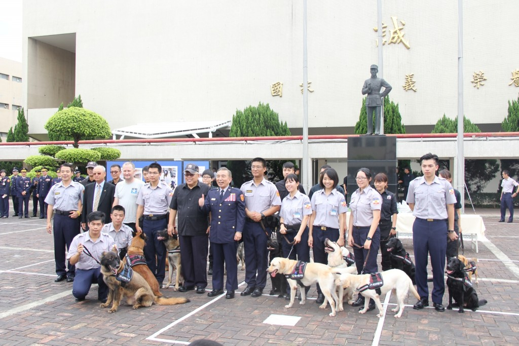Taiwan police dogs. (Image courtesy of Taiwan Ministry of the Interior)
