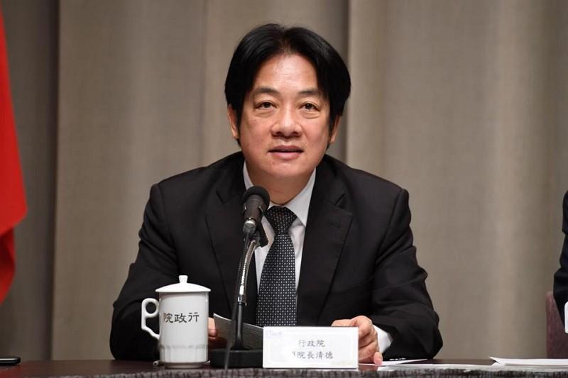 Premier William Lai (Photo from Lai's FB)