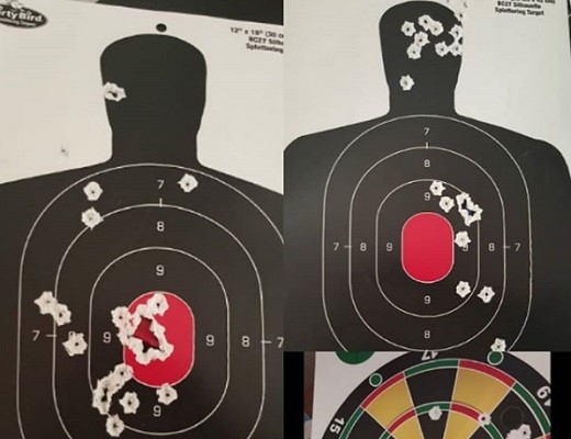 Shooting targets with many deadly hits. (Photo from Bent Instagram page)