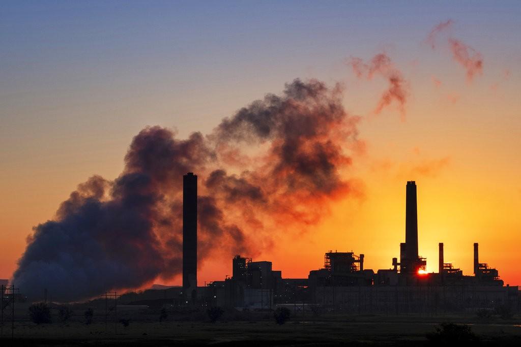 空氣汙染(圖片來源:美聯社)