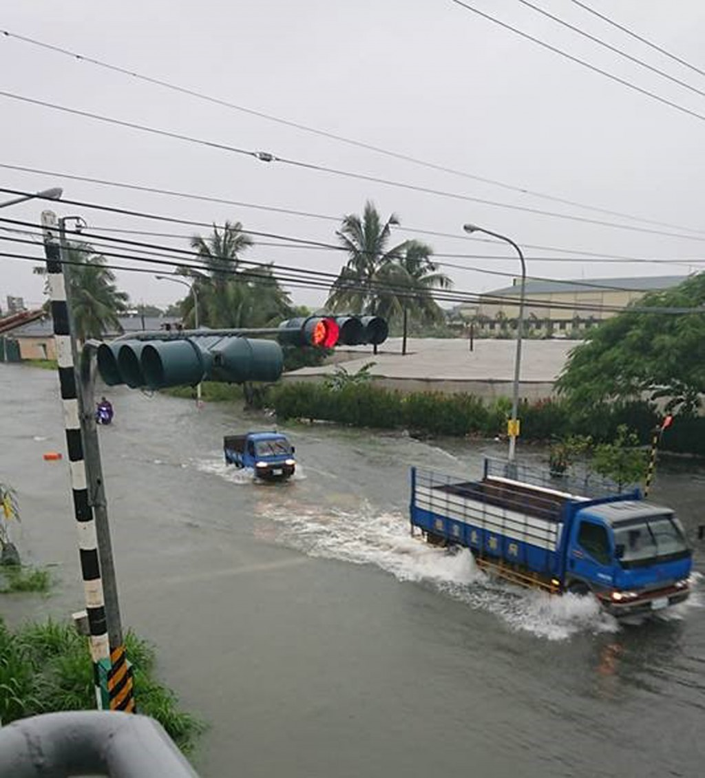 Flooding in Pingtung County.