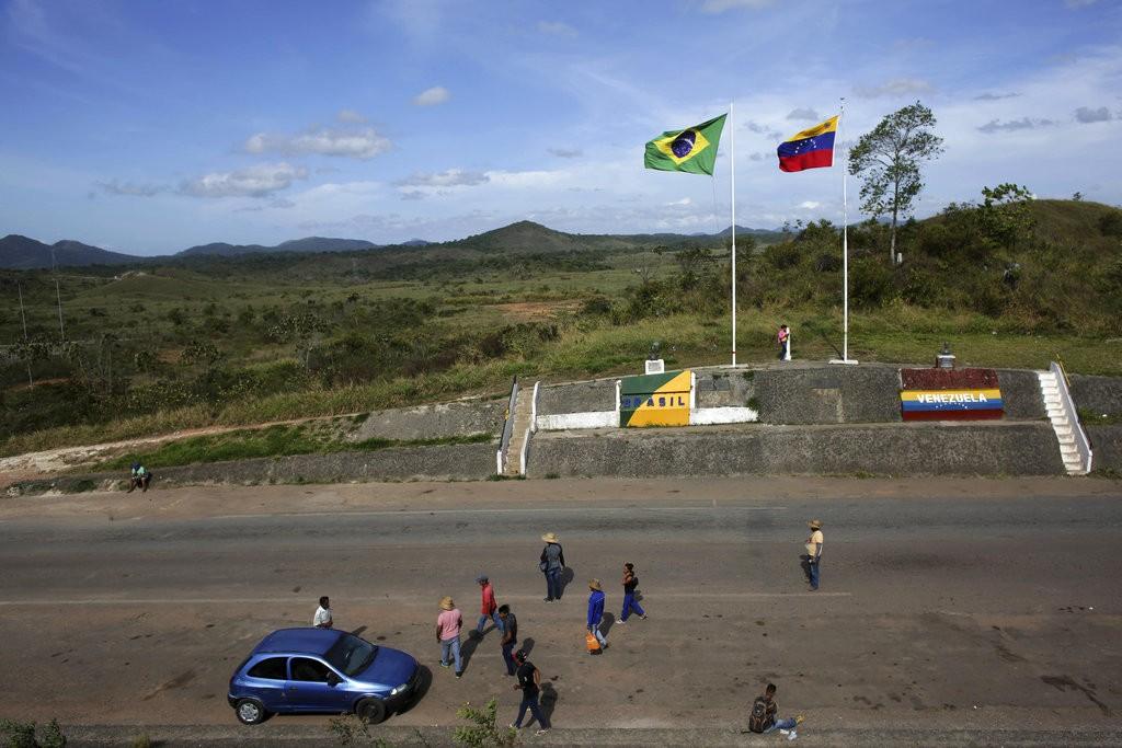 委内瑞拉巴西邊境地區(美聯社)