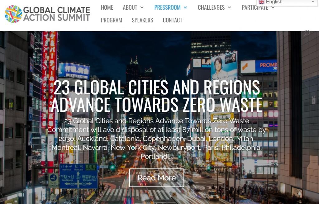 圖片擷取自Global Climate Action Summit網站