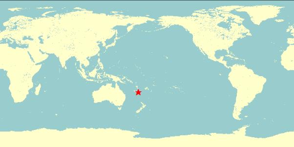 台灣時間2018年8月29日上午11點51分,南太平洋羅亞爾特群島東南方發生芮氏規模7.1強震(翻攝自氣象局網站)