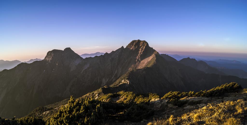 Yushan, tallest mountain in Taiwan.