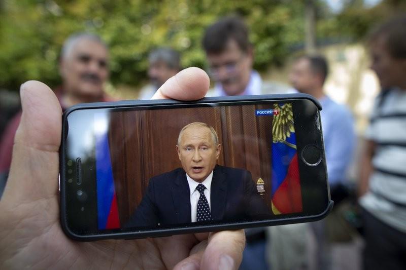 俄國總統普丁罕見發表電視直播演說(美聯社)