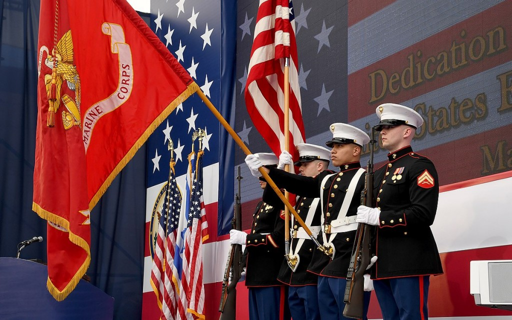Marines at dedication ceremony of US Embassy in Jerusalem