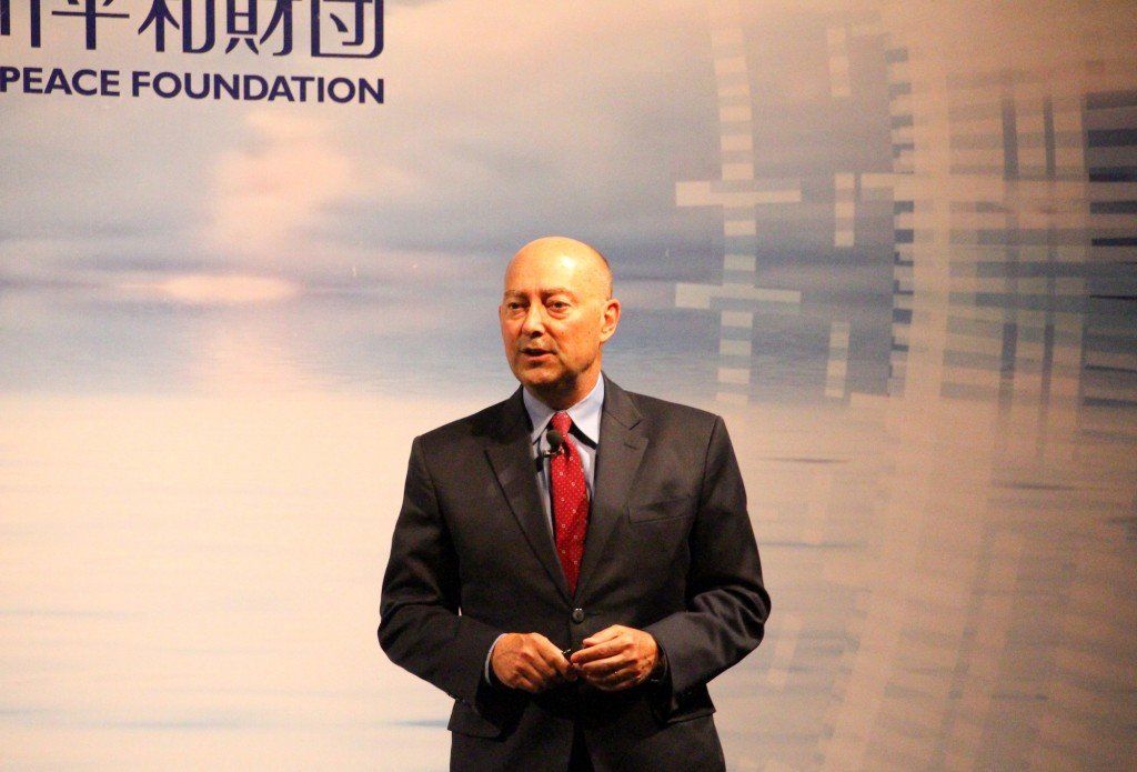 Former NATO's Supreme Allied Commander James G. Stavridis speaks at the Indo-Pacific Security Dialogue on August 30 in Taipei (Teng Pei-ju/Taiwan News