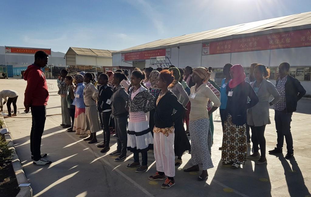 衣索比亞員工接受體能訓練(圖片來源:美聯社)