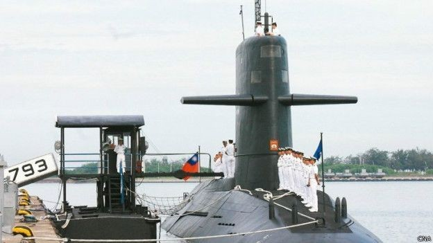 One of Taiwan's submarines built in the Netherlands in the 1980s.