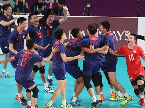 Taiwan's men's volleyball team wins a long-awaited bronze.