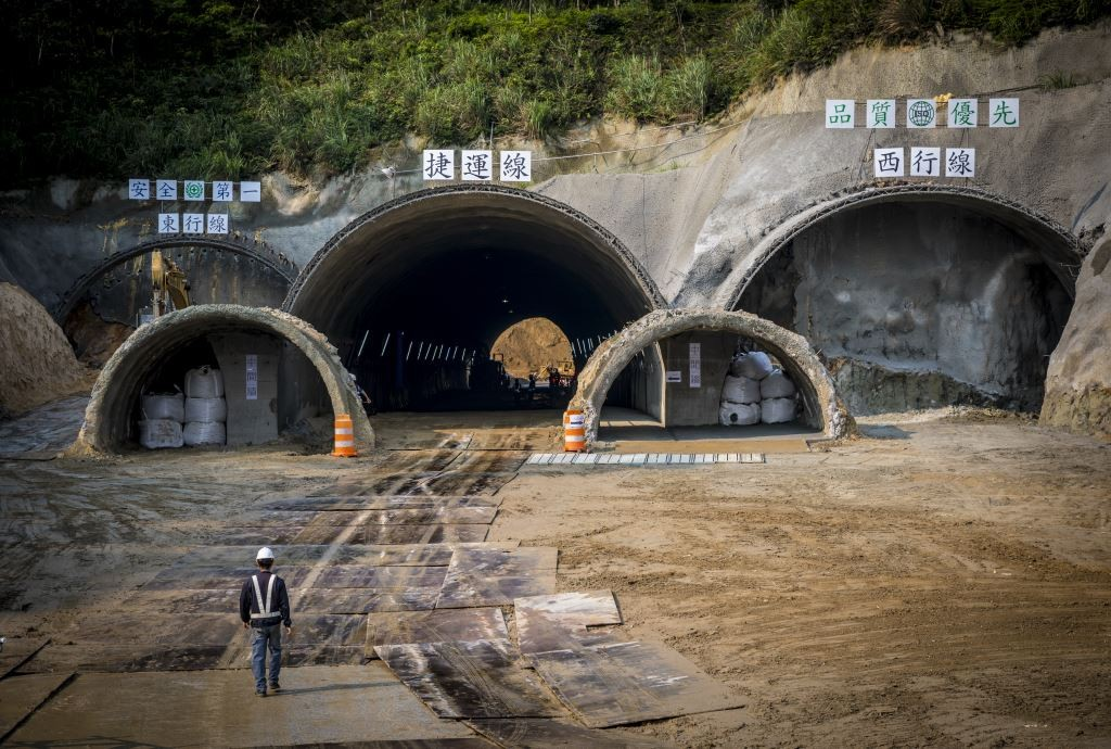 Tri-corridor tunnel project in April, 2018 (Image from Construction Office of New Taipei)