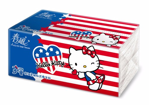 Hello-Kitty themed Andante 3-ply tissue paper. (Image from tw.buy.yahoo.com)