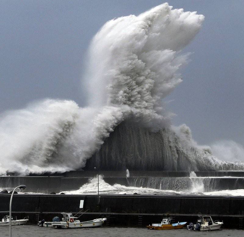 Typhoon Jebi attacked Japan Tuesday.
