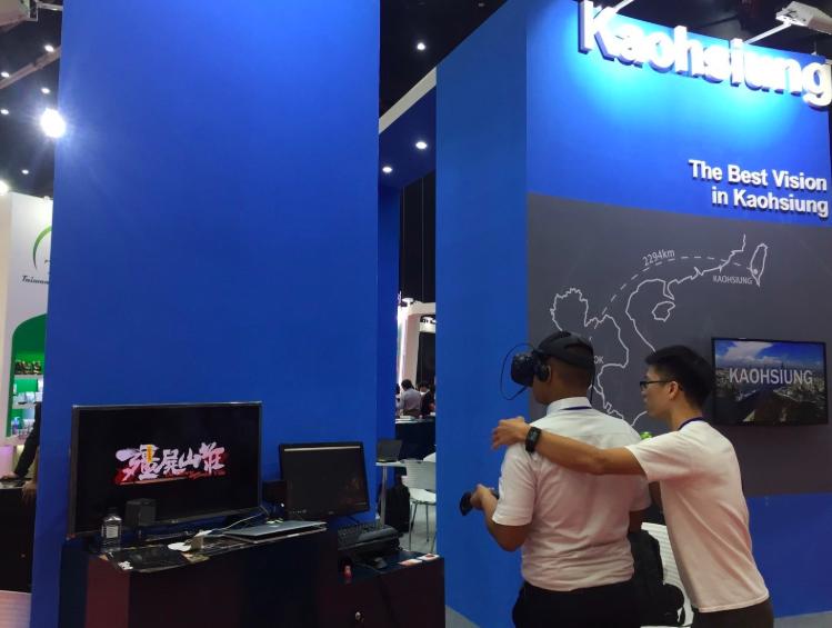 高市與科技業者於泰國展示虛擬實境作品(照片來源:高市府)