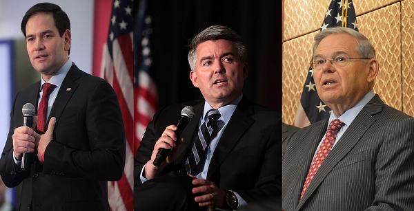 (L to R) Senators Rubio, Gardner, & Menendez