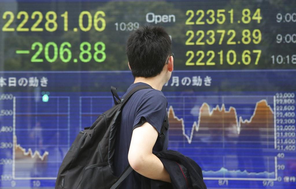 日本經濟示意圖(美聯社)