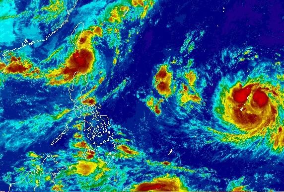 NOAA Himawari-8 satellite image.