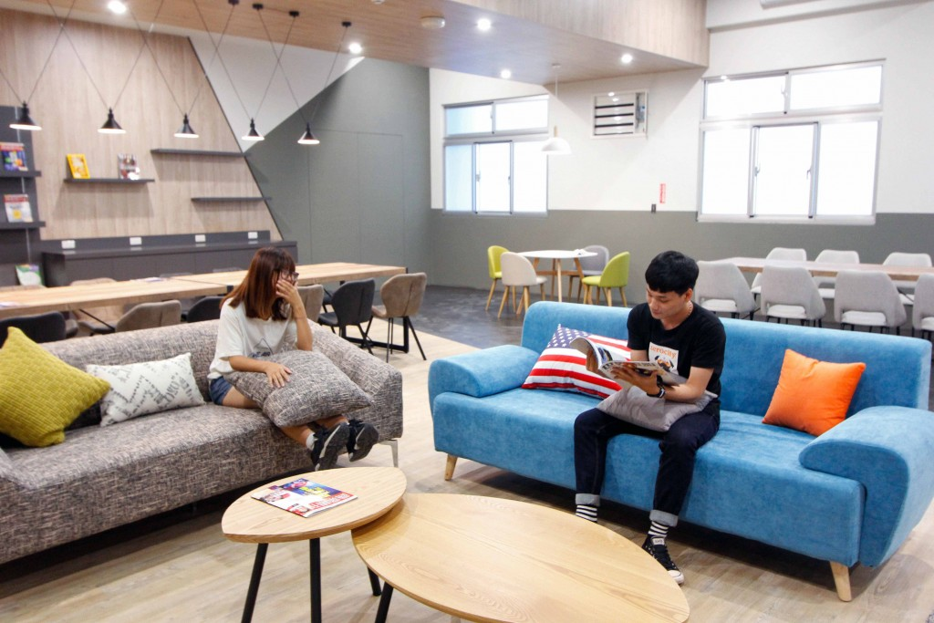 Common area of Lunghwa University of Science and Technology's new dorm.