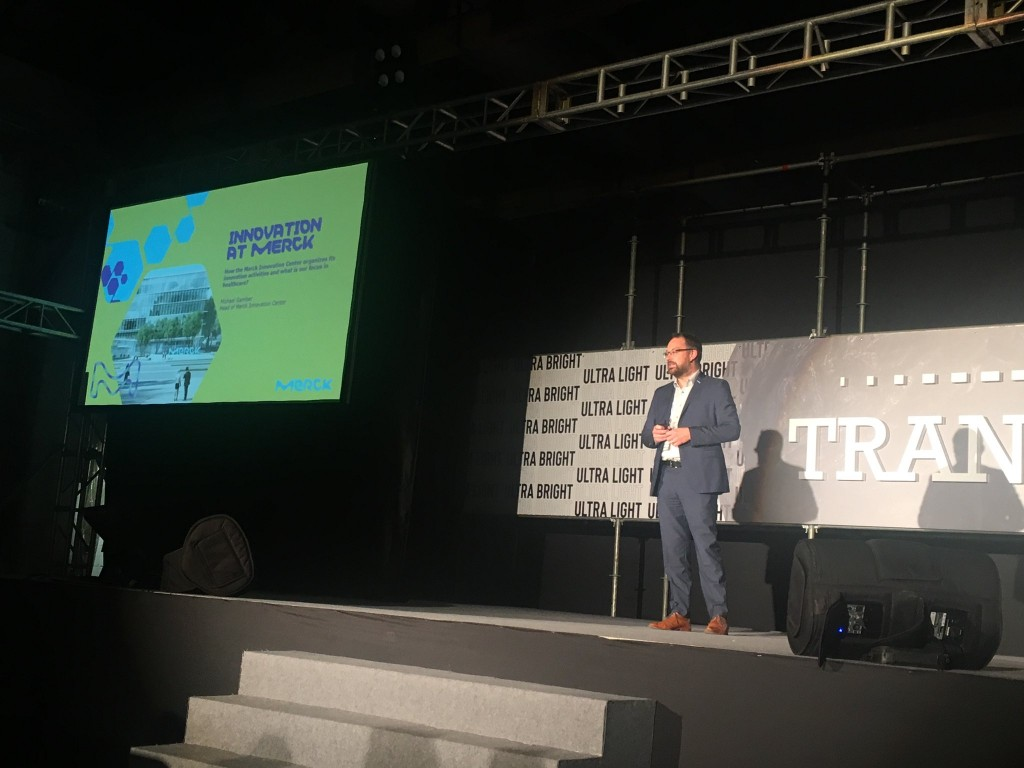 Marck Group Innovation Director Michael Gamber speaking at Trans 2018 (Twitter user: PoonHongWa