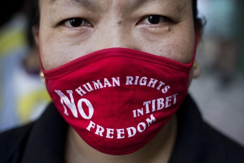 西藏流亡民眾(圖/美聯社)