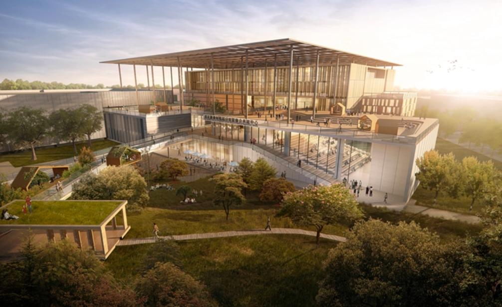 國家圖書館南部分館將保留原有樹木,打造新型循環建築(照片來源:九典聯合建築師事務所)