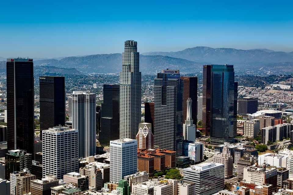 The photo shows part of Los Angeles (Credit: pixabay)