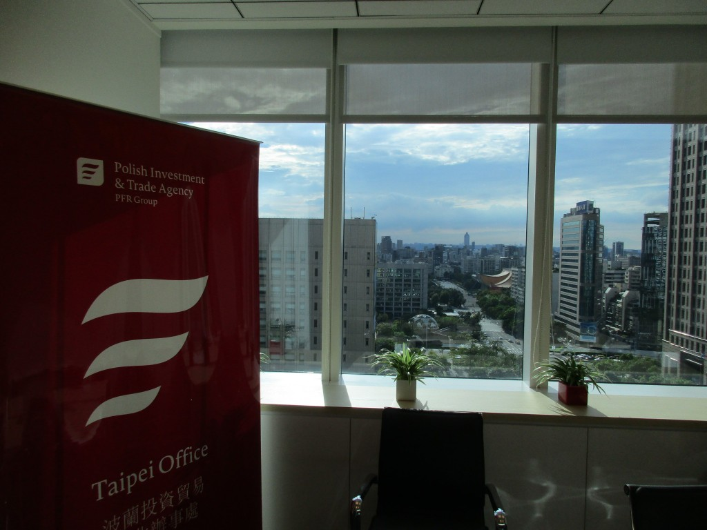 Polish Investment and Trade Agency's new Taipei office.