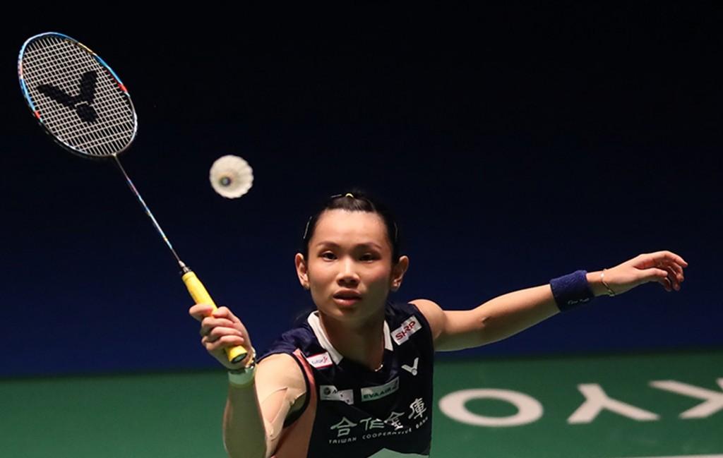 羽球世界球后戴資穎11日在日本羽球公開賽首輪僅用37分鐘,擊敗世界排名37的馬來西亞女將謝抒芽,進軍16強(照片來源:中央社)