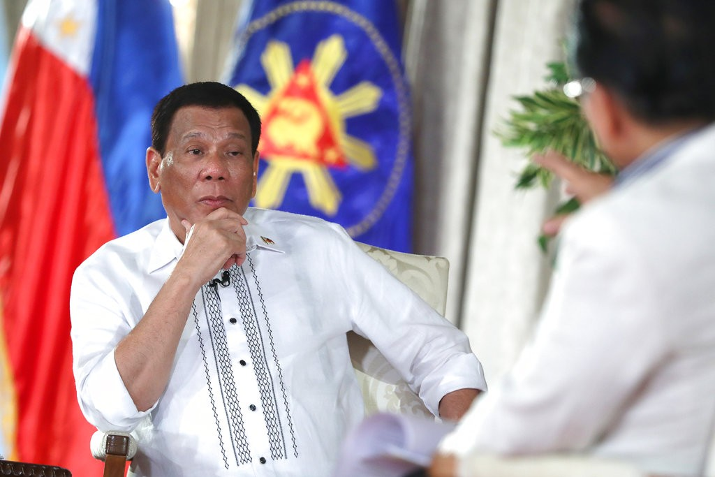 Duterte spoke at the Malacanang presidential palace in Manila on Sept. 11.