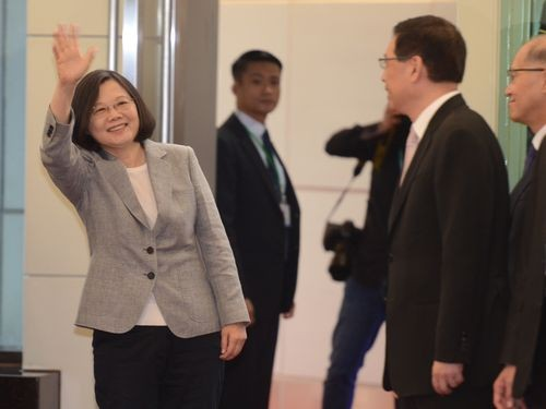 President Tsai Ing-wen leaving on a tour of Pacific allies last year.