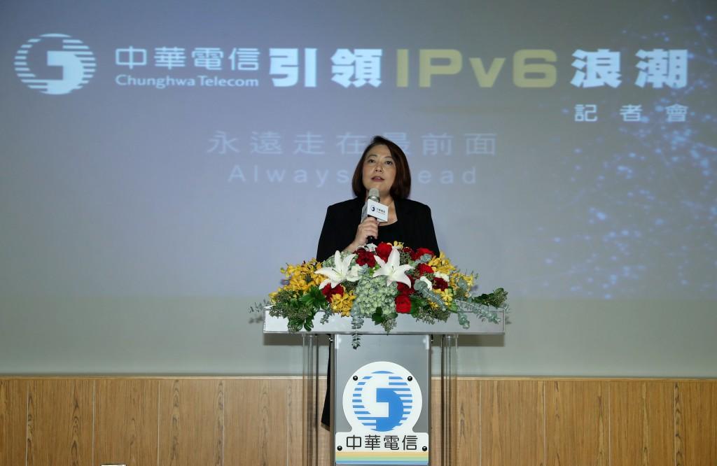 國家通訊傳播委員會詹婷怡主任委員出席記者會肯定中華電信對台灣數位匯流的貢獻 (中華電信提供)