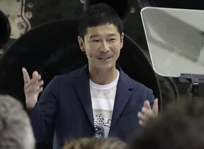 日本電商巨擘前澤友作(美聯社)