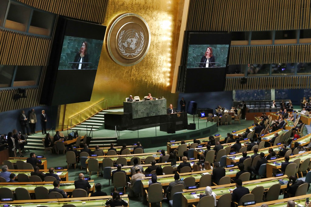 U.N. General Assembly on Sept. 18.