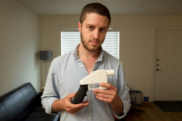 Cody Wilson with one of his 3D-printed guns.