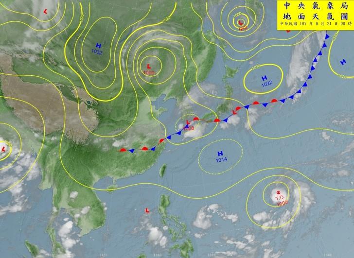 圖取自中央氣象局網頁。
