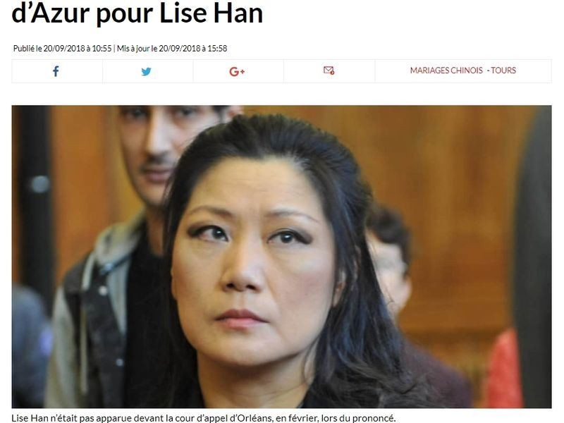 Lise Han (photo from www.lanouvellerepublique.fr)