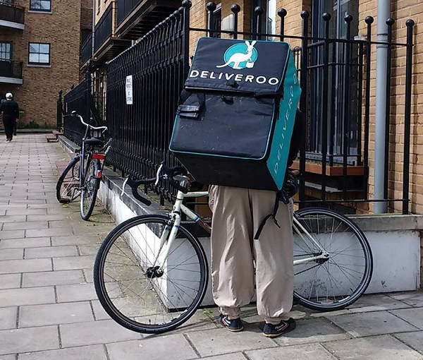 Deliveroo bicycle delivery