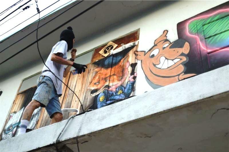 臺灣的年輕創作者於駐泰期間勇於嘗試包括塗鴉藝術在內的各類可能性 (文化部提供)