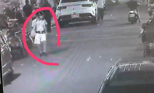 Surveillance footage of the shooter