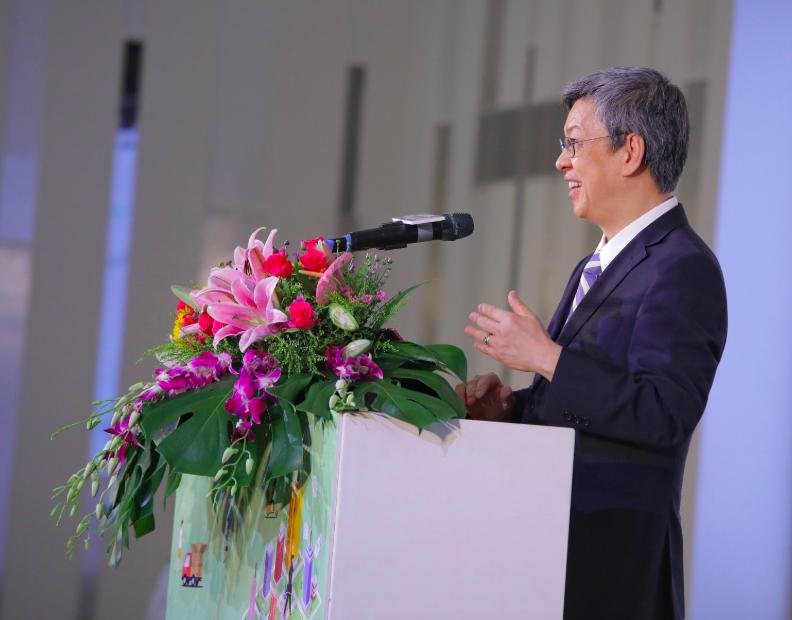 副總統陳建仁表示,盼建立「經濟共同體意識」,使台灣成為新南向國家的好夥伴。(照片來源:陳建仁臉書)