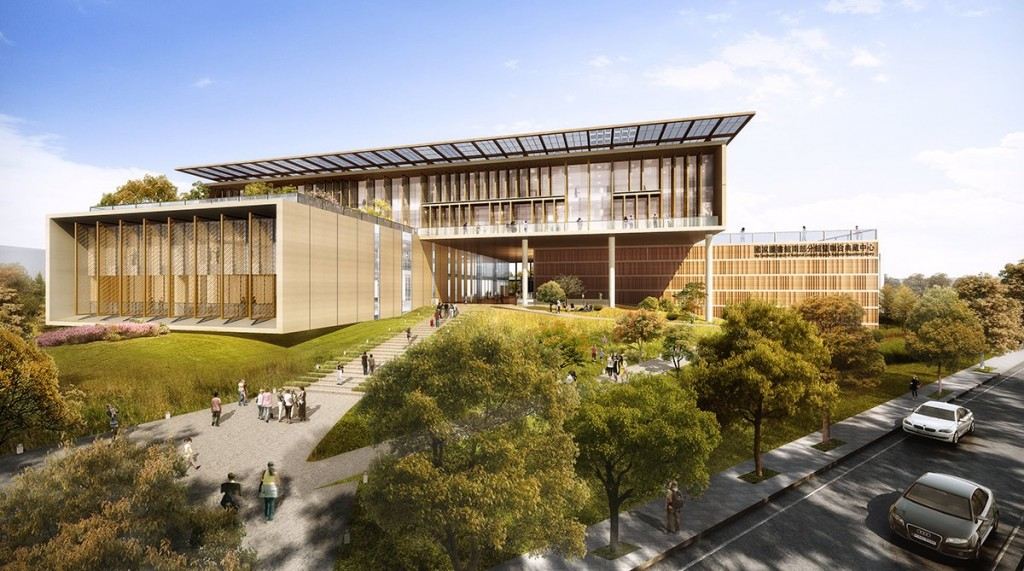 Artist render of new Taiwan National Library and Repository in Tainan (Image courtesy of BAF)