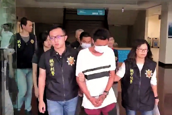 Three men were arrested after beating to death another man in Taoyuan