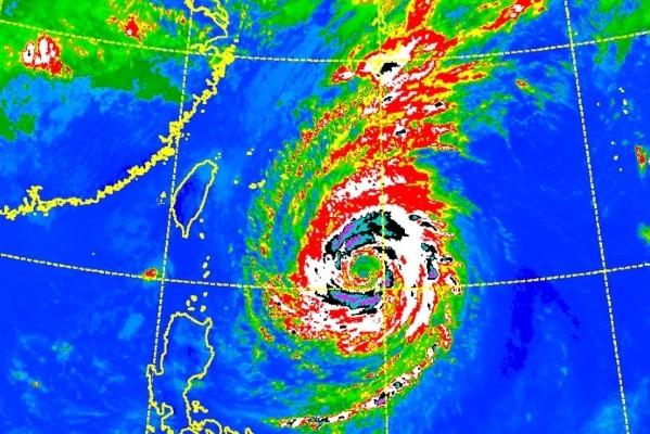CWB infrared satellite image of Typhoon Trami.