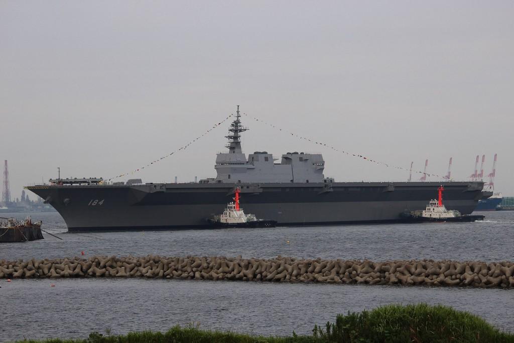 日本最大軍艦加賀號護衛艦。(維基百科)
