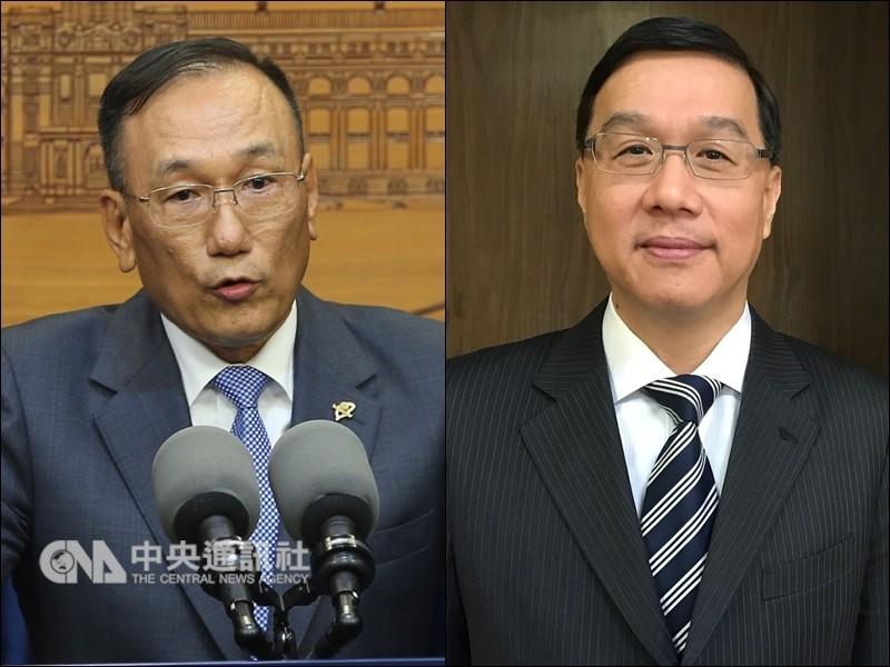 外交部常務次長劉德立(左)外派駐西班牙代表,遺缺由駐秘魯代表曹立傑(右)接任(圖/中央社)