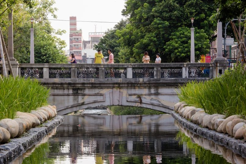 The newly renovated Xinsheng Green Waterway in Taichung City (Image by Chin Hung-hao)