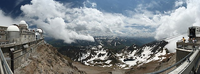 The Pic du Midi Observatory at 2870 m in the Pyrenees in the south of