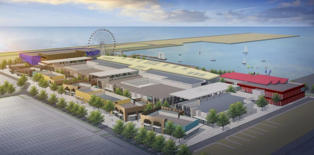The 3D illustration of the shopping outlet center (Source of the image: epa.gov.tw)