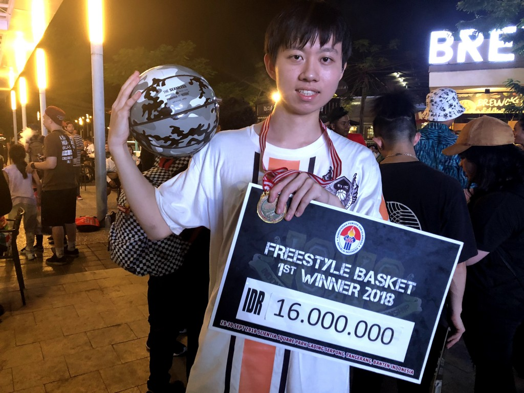 FUS 花式籃球選手蔡承展今年參加由印尼政府主辦,在雅加達Scientia Square Park盛大舉行的IOXC多元性比賽,榮獲花式籃